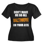 Baltimore Baseball Women's Plus Size Scoop Neck Da