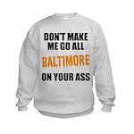 Baltimore Baseball Kids Sweatshirt