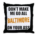 Baltimore Baseball Throw Pillow