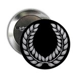 Black with Silver laurel Button