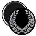 Black with Silver laurel Magnet