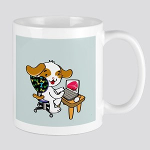Internet shopping dog Mug