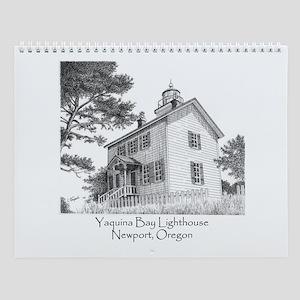 Yaquina Bay Lighthouse Wall Calendar