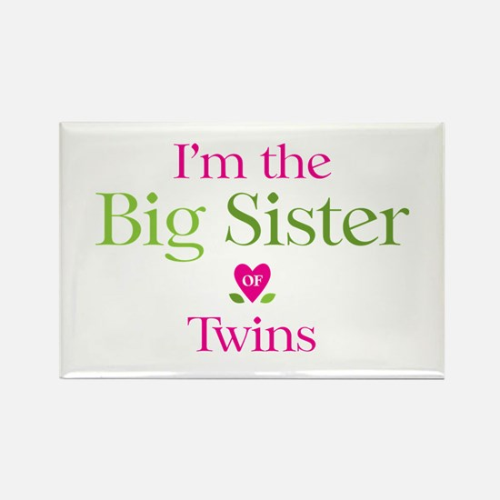 Big Sister of Twins Rectangle Magnet