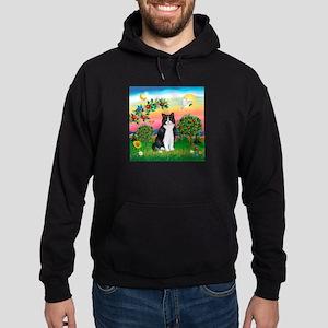 Bright Country / (B&W) Cat Hoodie (dark)