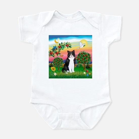 Bright Country / (B&W) Cat Infant Bodysuit
