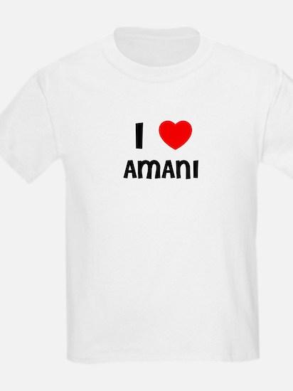 I LOVE AMANI Kids T-Shirt