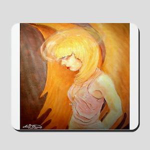 Angel Bows in Prayer Mousepad