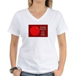 Red Dot/Red State Women's V-Neck T-Shirt