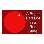 Red Dot/Red State Rectangle Sticker
