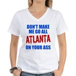 Atlanta Baseball Women's V-Neck T-Shirt