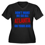 Atlanta Baseball Women's Plus Size V-Neck Dark T-S
