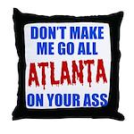 Atlanta Baseball Throw Pillow