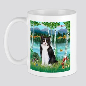 Birches / (B&W) Cat Mug