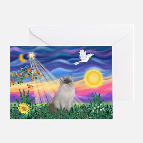 Twilight / Ragdoll Greeting Card