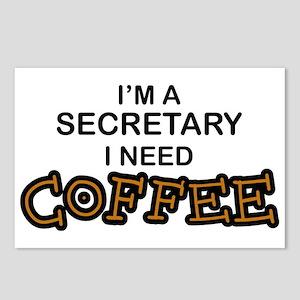 Secretary Need Coffee Postcards (Package of 8)
