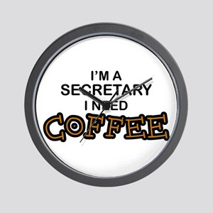 Secretary Need Coffee Wall Clock