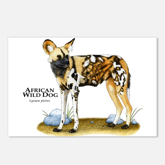 African Wild Dog Postcards (Package of 8)