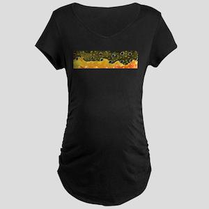 Brook Trout Skin Maternity Dark T-Shirt