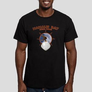 hanalei bay hawaii Men's Fitted T-Shirt (dark)