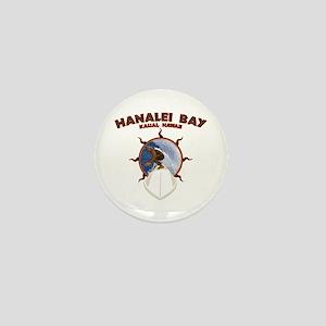 hanalei bay hawaii Mini Button