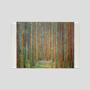 Gustav Klimt Pine Forest Magnets