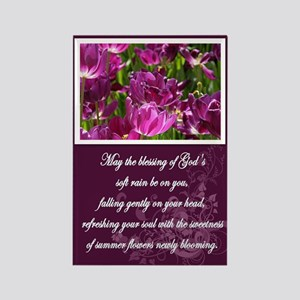 Flowers Irish Blessing Rectangle Magnet