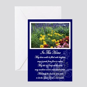 House warming greeting cards cafepress irish house blessing greeting card m4hsunfo