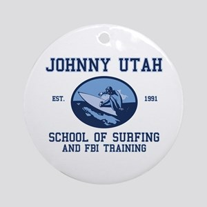 johnny utah surfing school Ornament (Round)