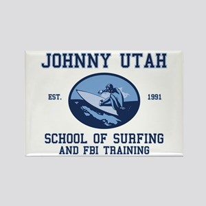 johnny utah surfing school Rectangle Magnet