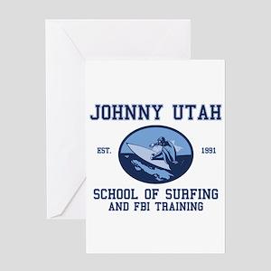 johnny utah surfing school Greeting Card