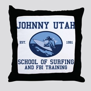 johnny utah surfing school Throw Pillow