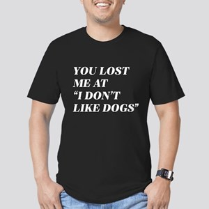 I Don't Like Dogs Men's Fitted T-Shirt (dark)