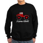 Farm Girl Tractor Sweatshirt (dark)
