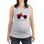 Farm Girl Tractor Maternity Tank Top