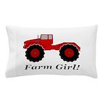 Farm Girl Tractor Pillow Case