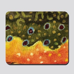 Brook Trout Fly Fishing Mousepad