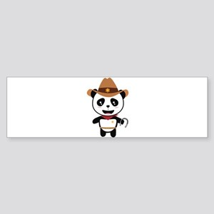 Panda Cowboy with horseshoe Ctao7 Bumper Sticker