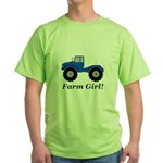 Farm Girl Tractor Green T-Shirt