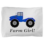 Farm Girl Tractor Pillow Sham
