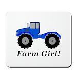 Farm Girl Tractor Mousepad