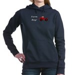 Farm Boy Tractor Women's Hooded Sweatshirt