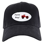 Farm Boy Tractor Black Cap with Patch