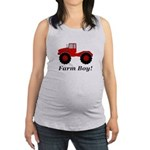 Farm Boy Tractor Maternity Tank Top