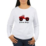 Farm Boy Tractor Women's Long Sleeve T-Shirt