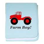 Farm Boy Tractor baby blanket