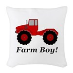 Farm Boy Tractor Woven Throw Pillow