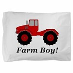 Farm Boy Tractor Pillow Sham
