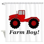 Farm Boy Tractor Shower Curtain
