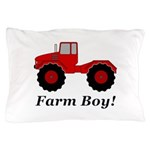 Farm Boy Tractor Pillow Case